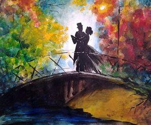 art, bridge, and love image
