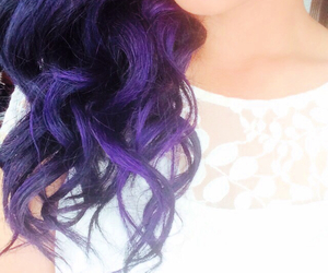 colored hair, hair, and purple image