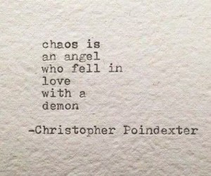 quote, angel, and chaos image