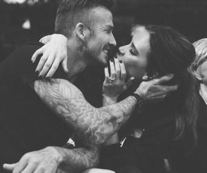 love, couple, and David Beckham image