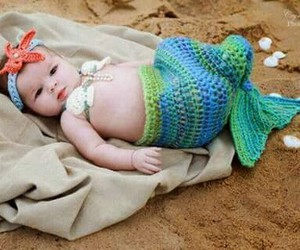 little, mermaid, and cute image