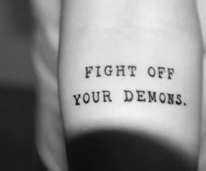 tattoo, demon, and fight image