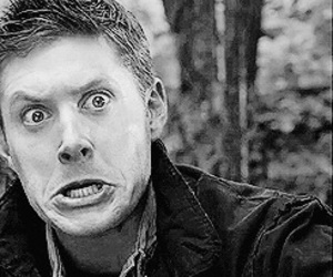 Jensen Ackles and black and white image