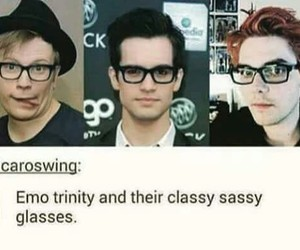 brendon urie, gerard way, and patrick stump image