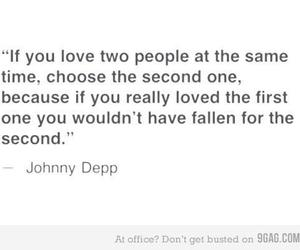 johnny depp, love, and text image
