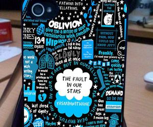 blue, iphone, and the fault in our stars image