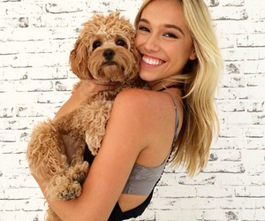dog, alexis ren, and puppy image