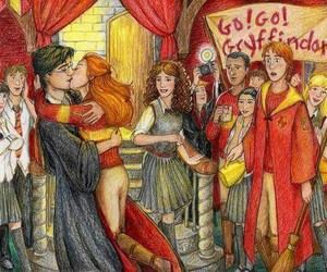 harry potter, ginny weasley, and kiss image