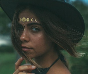 girl, model, and hat image