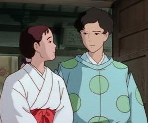 anime, Tanuki, and couple image