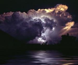 clouds, lightning, and sky image