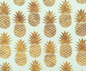 pineapple, gold, and summer image