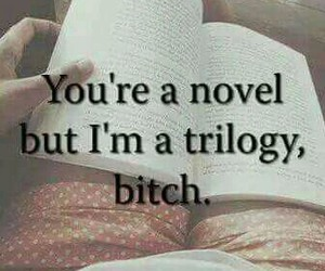 book, novel, and trilogy image