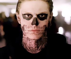 lol, evan peters, and american horror story image