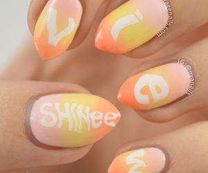 color, girl, and nails image