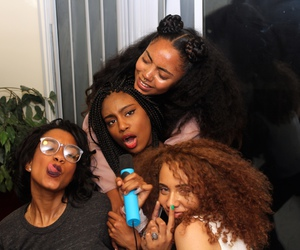 girl, squad, and hair image