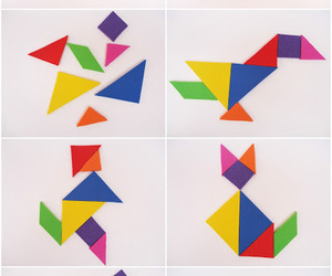 foamy, tans, and tangram image