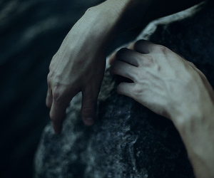 hands, dark, and veins image