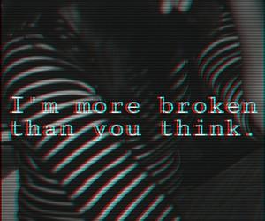 broken, sad, and alone image