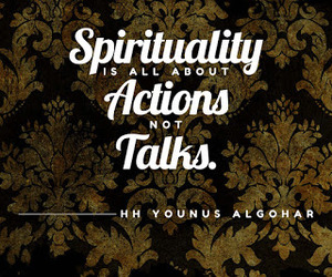 Action, quote, and spirituality image