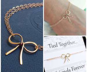 best friend, bow, and bracelet image