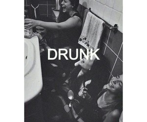 drunk, alcohol, and friends image