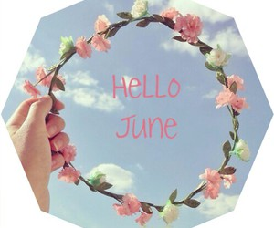 summer, hello, and june image