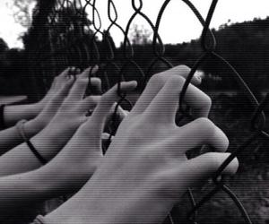 grunge, black and white, and dark image