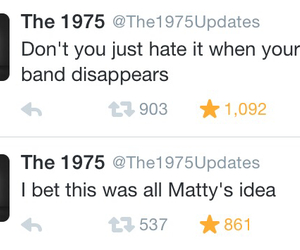 disappear, the 1975, and tweet image