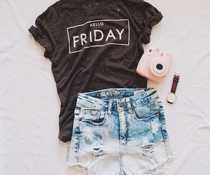 fashion, outfit, and friday image