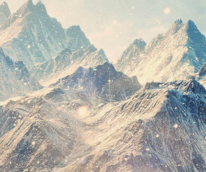 mountains, snow, and wallpaper image