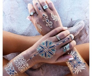 boho, golden, and jewelry image
