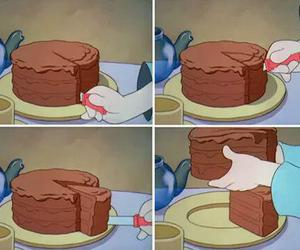 cake, funny, and chocolate image