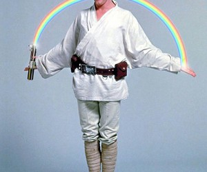 star wars, luke skywalker, and rainbow image