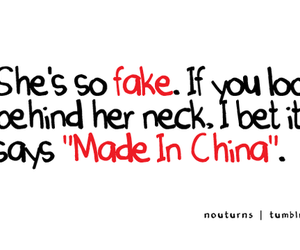 fake, made in china, and quote image