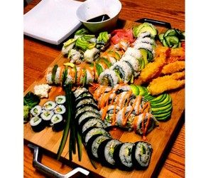 sushi, instagram, and food image