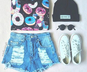 donuts, fashion, and tumblr image