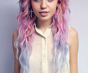 bluish, colored, and hair image