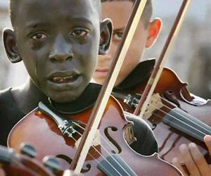 violin, music, and cry image