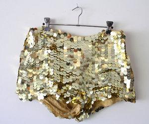 fashion, shorts, and glitter image
