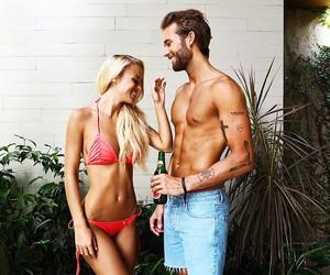 couple, love, and bikini image