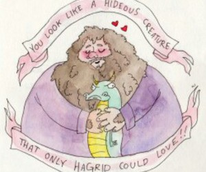 hagrid, harry potter, and funny image
