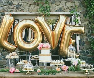 love, wedding, and cake image