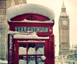 Big Ben, vintage, and phone booth image