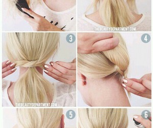 blond, hairstyles, and diy image