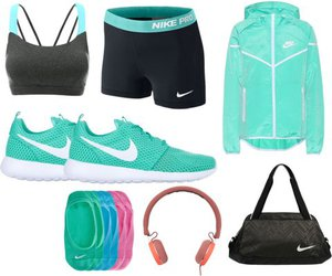 gym, nike, and outfit image