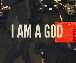 kanye west, god, and i am a god image