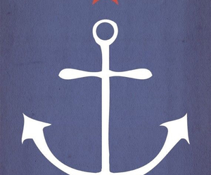 anchor, blue, and red star image