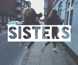 girl, sisters, and friends image