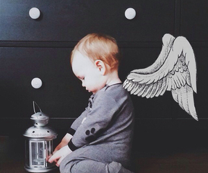 baby and angel image